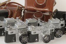 7 pcs. Kiev-4 Vintage Soviet Rangefinder Camera Helios-103, Jupiter 8M