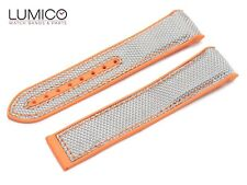 For 20mm 22mm OMEGA SeaMaster Planet ORANGE GREY Rubber Strap Watch Band Clasp