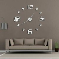Cafe Wall Clock Watch Coffee Shop Decorations DIY Frameless Quartz Needle Clocks