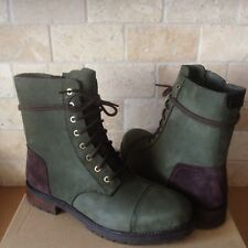 UGG Kilmer Slate Water-resistant Leather Combat Short Boots Size 10 Womens