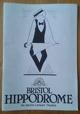 Singin In The Rain programme Bristol Hippodrome theatre 1986 Tommy Steele