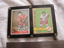 Marcel Dionne and Stan Mikita Cards Encased in Frame