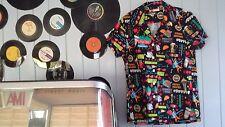 Rockabilly Rock 'n Roll bowling shirt retro dancewear AMERICAN THEME s12