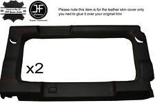Rouge piquer 2X vitre arrière panneau garniture en cuir couvre pour defender 110 sw 83-16