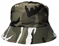Men's Bucket Style Sun Hat Camouflage Design Cotton Summer Holiday Bush Cap Desert Camo 59cm