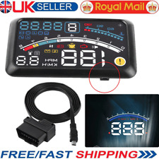 HUD Head Up Display Display OBD2 Projector Speedometer Fuel Speed Warning System