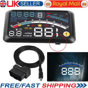 HUD Head Up Display Display OBD2 Projector Speedometer Fuel Speed Warning System