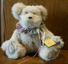 """CHAMPAIGN, 14"""" by Valerie Bruno, Fully Jointed Oatmeal German Plush, NEW/Tag"""