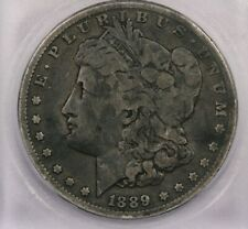 1889-CC 1889 Morgan Silver Dollar S$1 ICG VG10 nice and original
