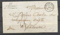 1850 Lettre Cursive 37 St Etienne de St Geoirs +CAD T15 La Cote St André P3811
