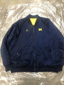 Michigan Wolverines Reversible Jumpman Raglan Jacket Mens Size XXL BNWOT