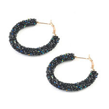 Women Lady Elegant Hook Earrings Crystal Ear Stud Dangle Hoops Jewelry Gifts