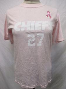 Kansas City Chiefs NFL Women's Larry Johnson Pink Breast Cancer T-Shirt