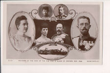 Vintage Postcard King Edward VII Queen Alexandra Great Britain & Swedish Royals
