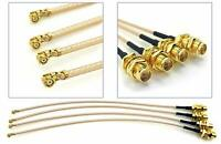 4pcs 10inch U.FL(IPEX/IPX) Mini PCI to RP-SMA Female RF Coax RG178 Pigtail cable