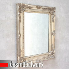 Hängespiegel Wandspiegel silber Landhaus Spiegel Badspiegel Holzrahmen MR003-2S