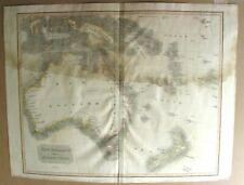 1817 John Thomson Large Antique Map of  New Holland, Australia, New Zealand