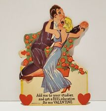 1930s Mechanical Valentine's Day Card ( Add Me To Your Studies )