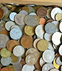 Completely unsearched 9.5 kilograms coin lot   Many High Value coins guaranteed