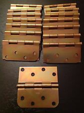 "STANLEY door hinges 08-1202 swing in 4"" brass plated ~set of 15 + screws"