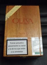"GRAN CAJA VACIA DE MADERA COLECCIÓN ""OLIVA-SERIE G"" - DE NICARAGUA."
