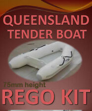 TENDER TO QLD Boat Rego Decal Sticker- Custom Cast Vinyl Registration Numbers