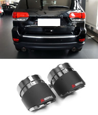 Carbon Fiber Exhaust End Tip Pipes Muffler For Jeep Grand Cherokee 2014-2017