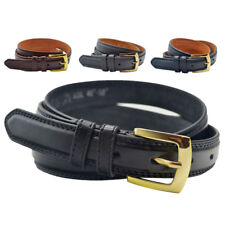 Mens Leather Lined Belt 25mm Wide Great for Trousers & Jeans Blue Black