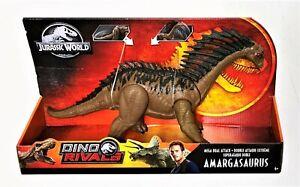 Jurassic World Park AMARGASAURUS Mega Dual Attack Dinosaur Dino Rivals Mattel