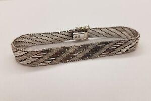 ERHALTUNG 585 Weißgold 14 Karat Gold Armband gepunzt breit + schwer