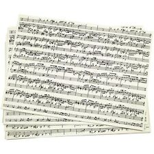 Kraft Paper 10 A4 21 x 30cm Sheets Acid Free Music Sheet Musical Notes Aged 100g