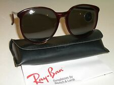 VINTAGE B&L RAY BAN WO345 G31 TRADITIONAL CHERRY TORT ROUND MODERNIST SUNGLASSES