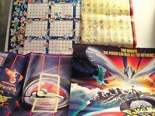 POKEMON VINTAGE POSTERS ( from Nintendo magazine ) 4 TOTAL (FREE SHIP / GIFT )