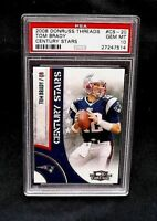 2008 Donruss Threads #CS-20 TOM BRADY Century Stars PSA 10 Gem Mint POP 8
