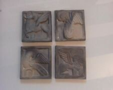 Art Deco tiles representing the Four Evangelists by Amphora Spain