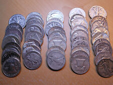 $25.00 FACE VALUE 90% SILVER US HALF DOLLAR 50 COINS - 2 1/2 ROLLS