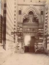 Original Photo of Egypt The Entrance to the El Afhan Mosque  By Bonfils C1880