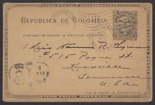 Colombia, 1901. Post Card H&G 13, Panama - Knoxville, Tn