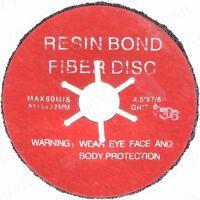 5 x SEMI-FLEXIBLE 36 GRIT FIBRE DISC 115mm Cleaning Angle Grinding Flap Wheel