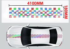 Hologram Plaid Hood Roof Trunk Speed Sticker Universal Vinyl Racing Decal #F 1K
