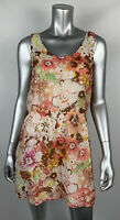 J.Crew Dress 4 Multicolor Silk Floral Scoop Neck Sleeveless Lined 38794