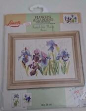 Lanarte cross stitch kit  34851 Blue Flowers Iris OOP.Rare.
