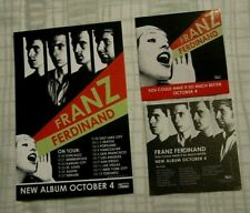 Franz Ferdinand 2005 Lot Promo 2-sided Card and Lot of 2 Promo Stickers