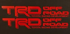 RED TOYOTA TRD TRUCK OFF ROAD 4x4 TOYOTA RACING TACOMA DECAL VINYL STICKER