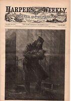 1871 Harpers Weekly December 23-Irish Catholic Children;Sandy Hook; Darwin; West