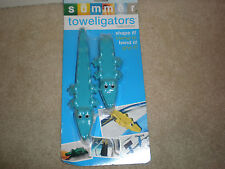 Summer Toweligators Turquoise Alligator Towel Clamp Clips New In Package