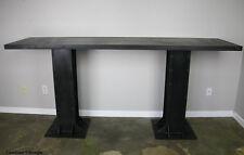 Vintage/Modern Industrial Table Steel or reclaimed wood top. Restaurant/Bar