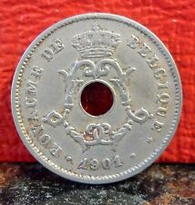 Beautiful Rare 1901 First Year 10 Centimes Belgium KM# 48 only 582,000 Minted