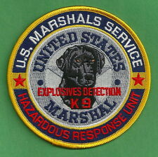 U.S. MARSHAL SERVICE EXPLOSIVES K-9 UNIT POLICE PATCH
