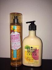 NEW Bath &and Body Works LEMON POMEGRANATE CREAM body lotion fragrance mist set